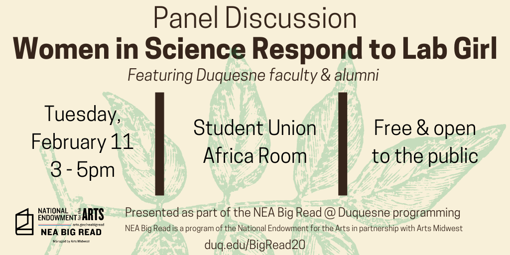 Women in Science Respond to Lab Girl: A Panel Discussion