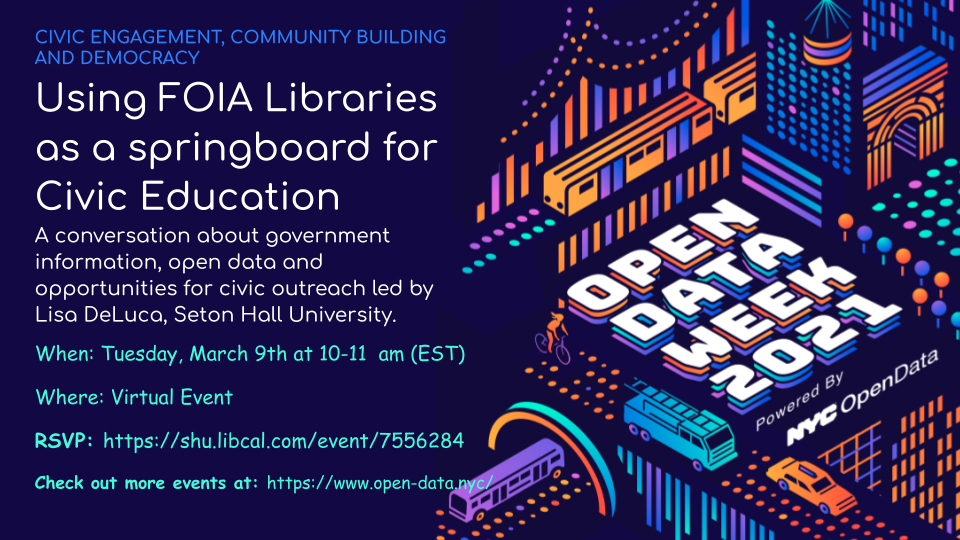 Using FOIA Libraries as a Springboard for Civic Education