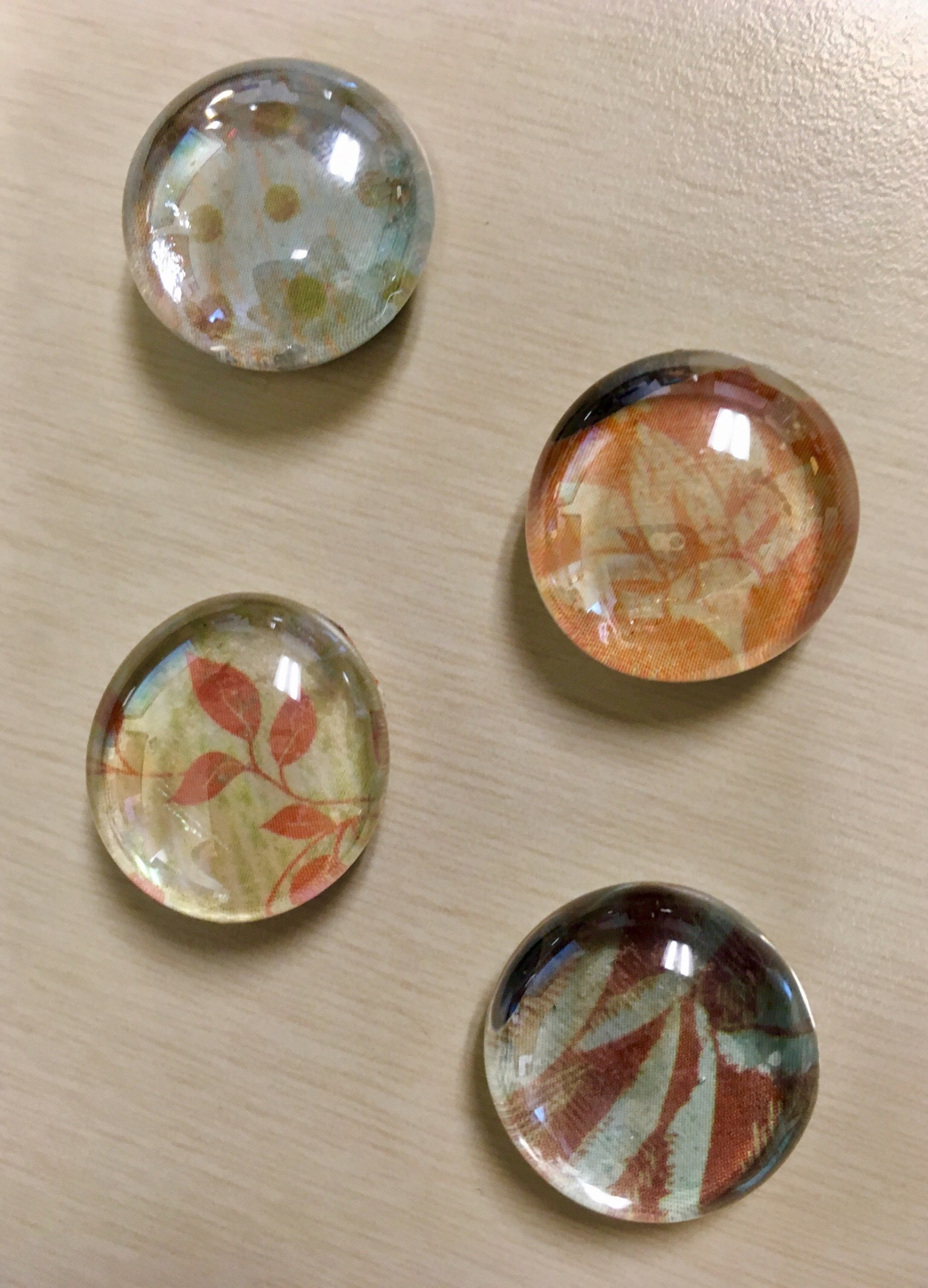 We Create: Glass Marble Magnets