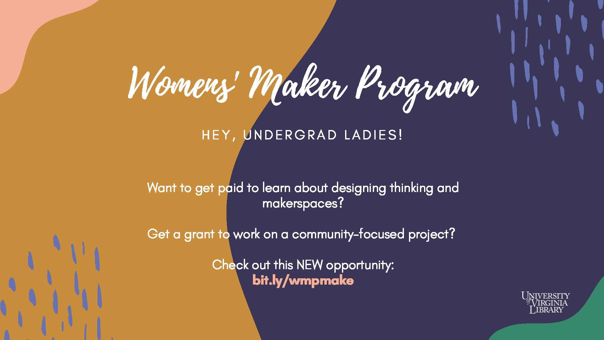 Women's Maker Program Information Session