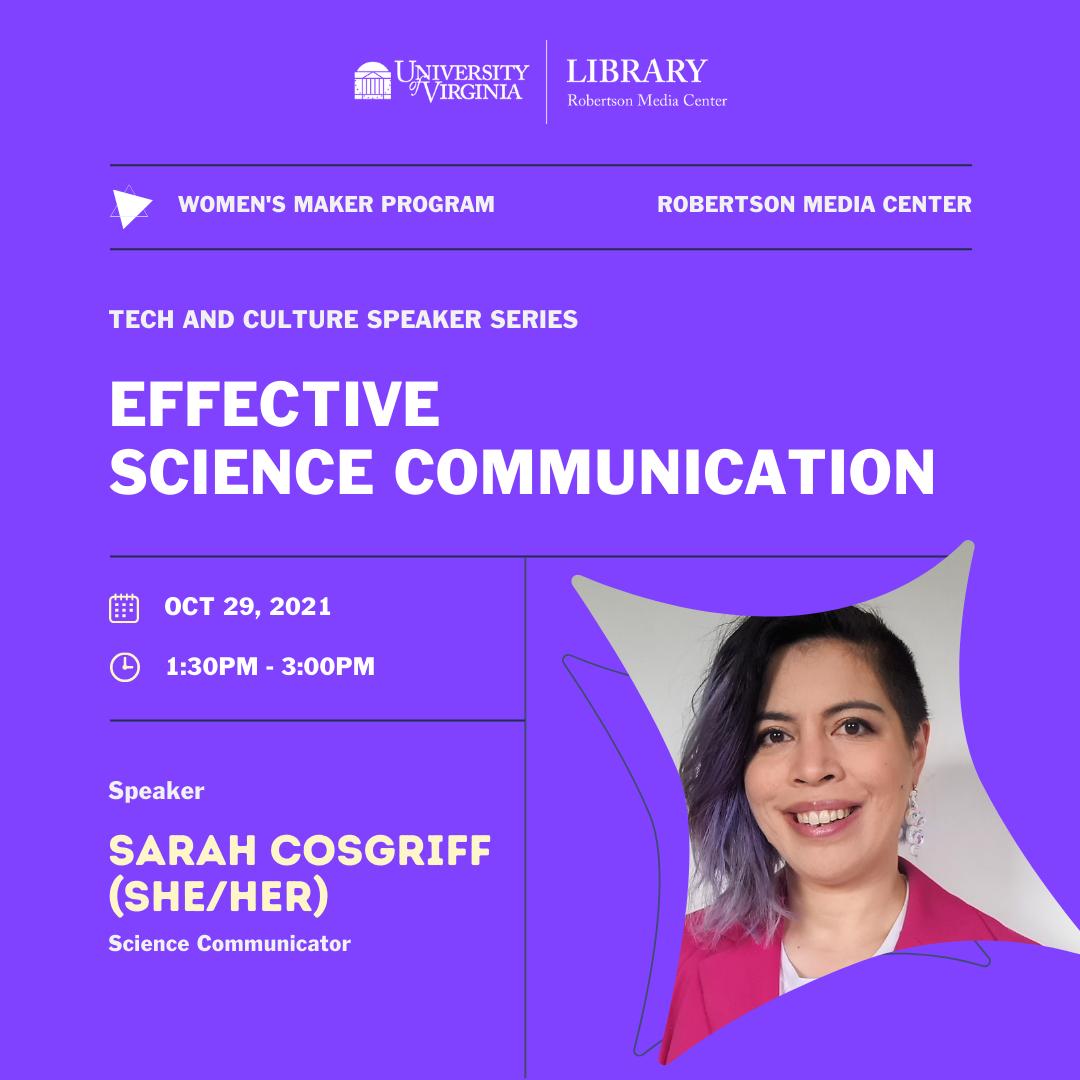 Women's Maker Program: Tech & Culture Speaker Series