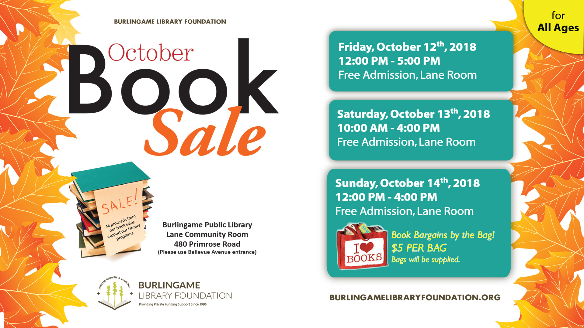October Book Sale
