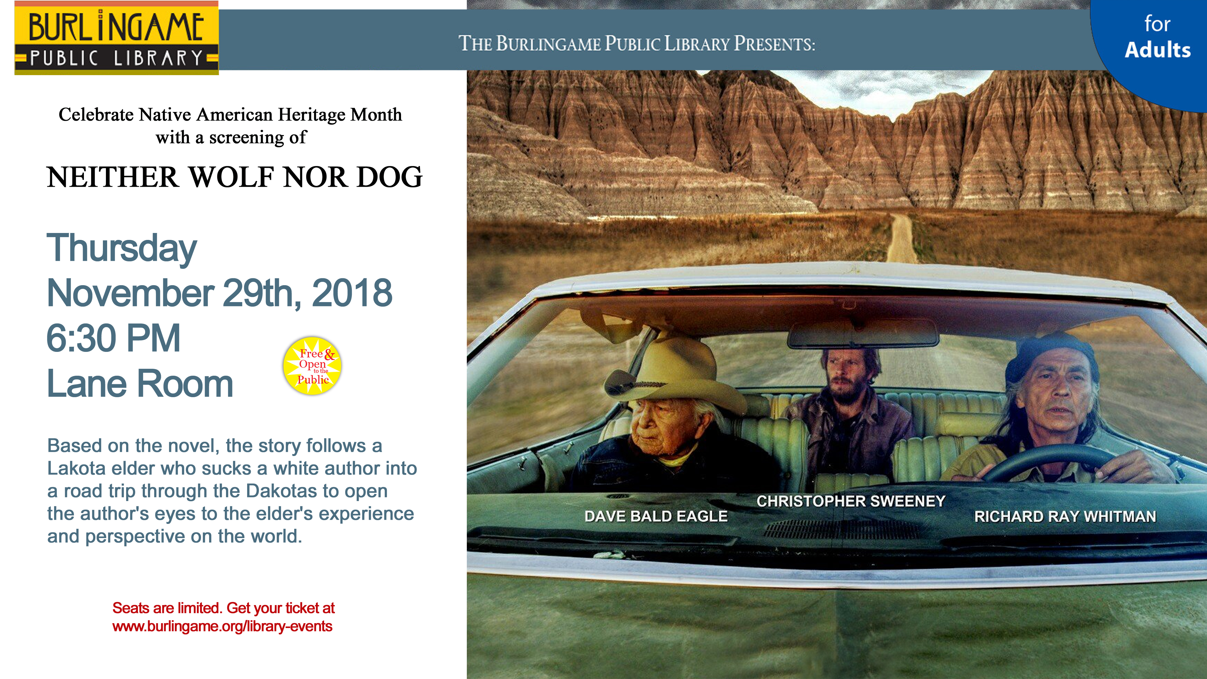 Film Screening: Neither Wolf Nor Dog
