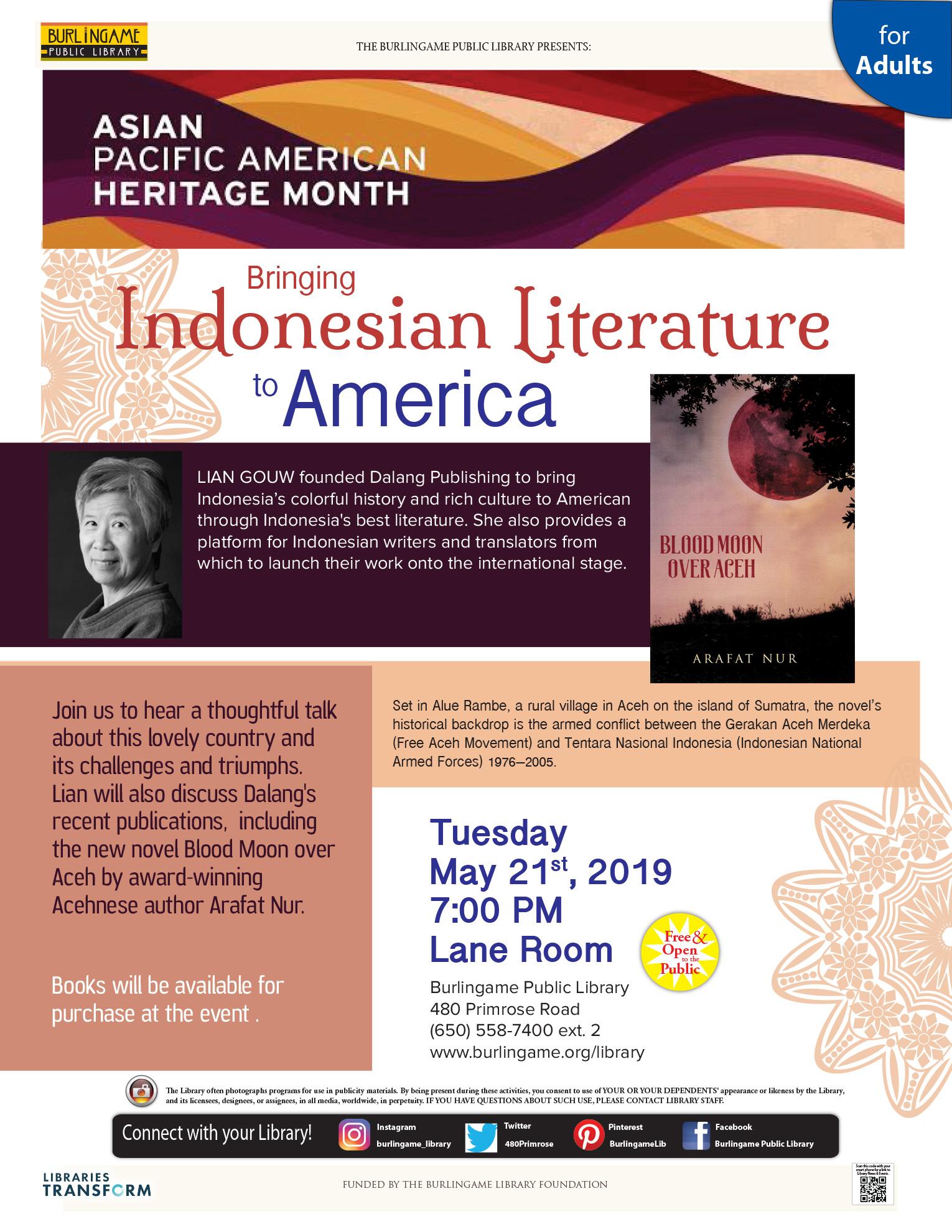 Bringing Indonesian Literature to American