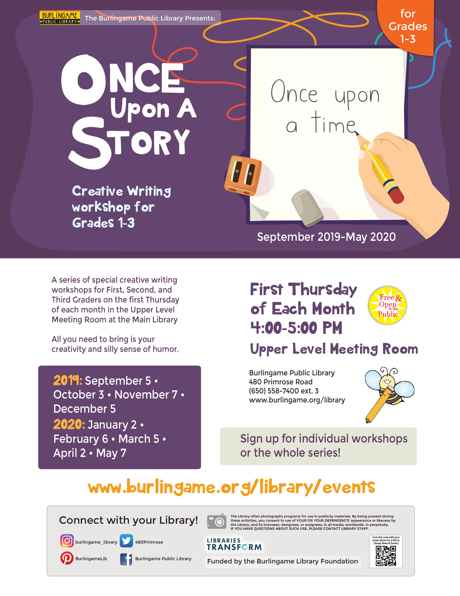 Once Upon a Story Creative Writing Workshop