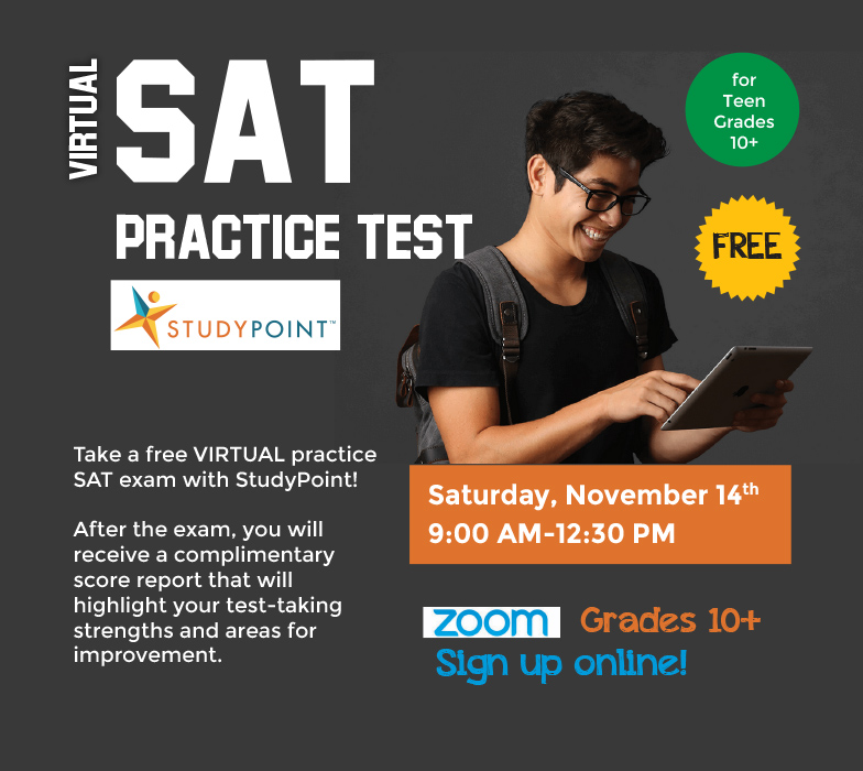 Practice SAT Test via Zoom with StudyPoint