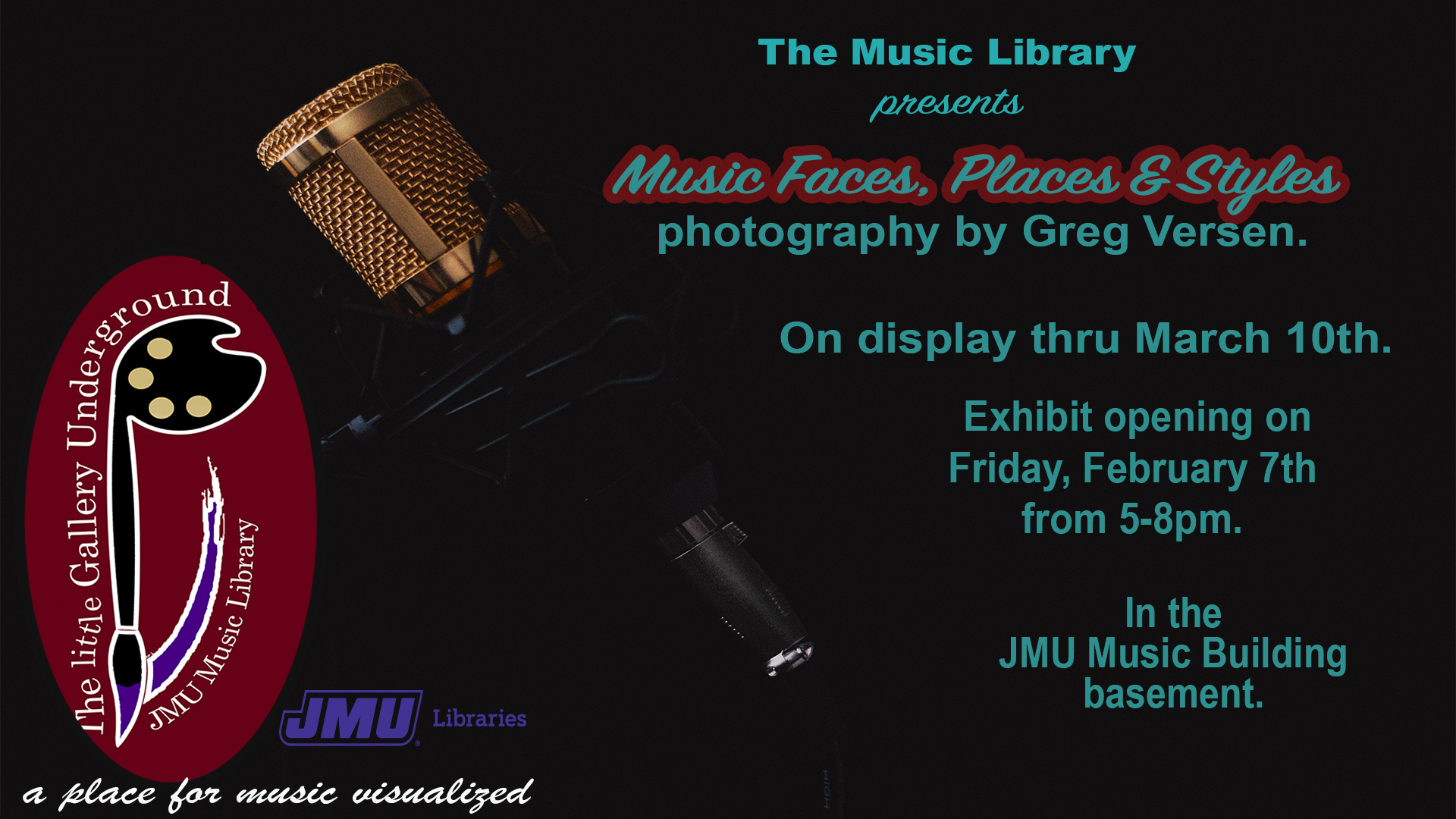 """Music Faces, Places, and Styles"" Opening Reception"