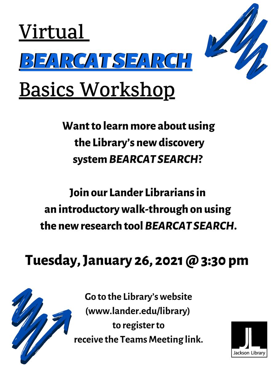 Bearcat Search Basics Workshop