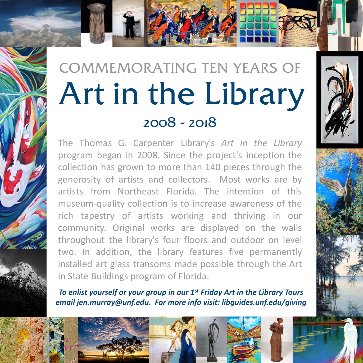 10th Anniversary - ART IN THE LIBRARY TOUR