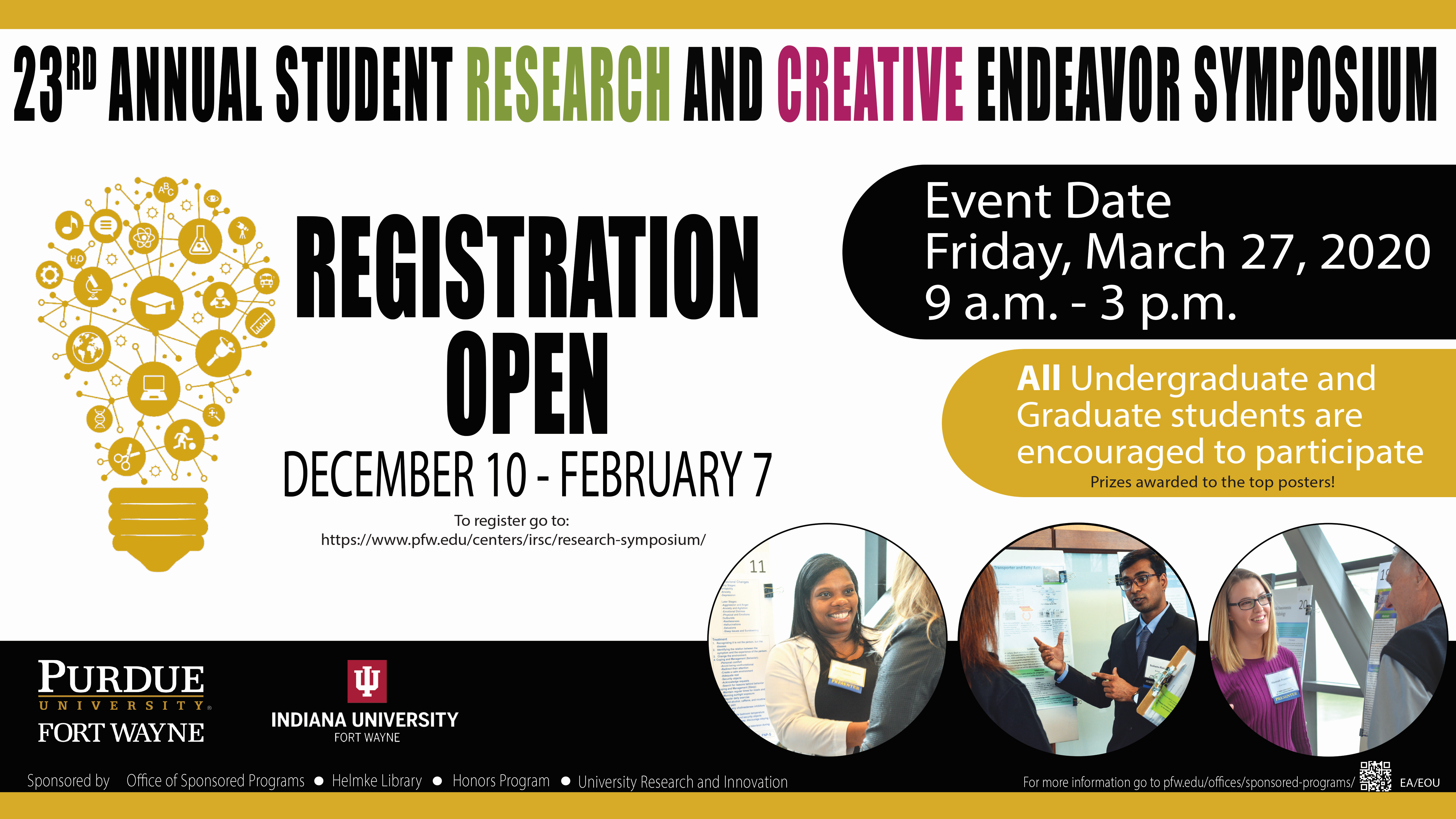 February 7th Registration Deadline for Student Research Symposium