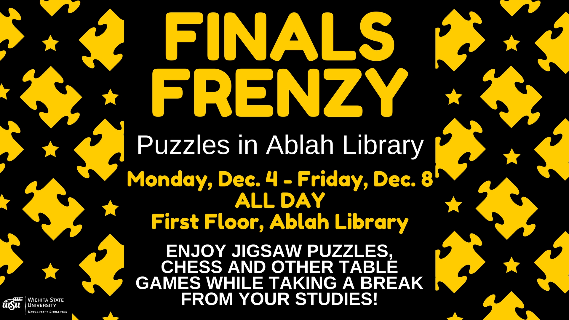 Finals Frenzy: Puzzles in Ablah Library