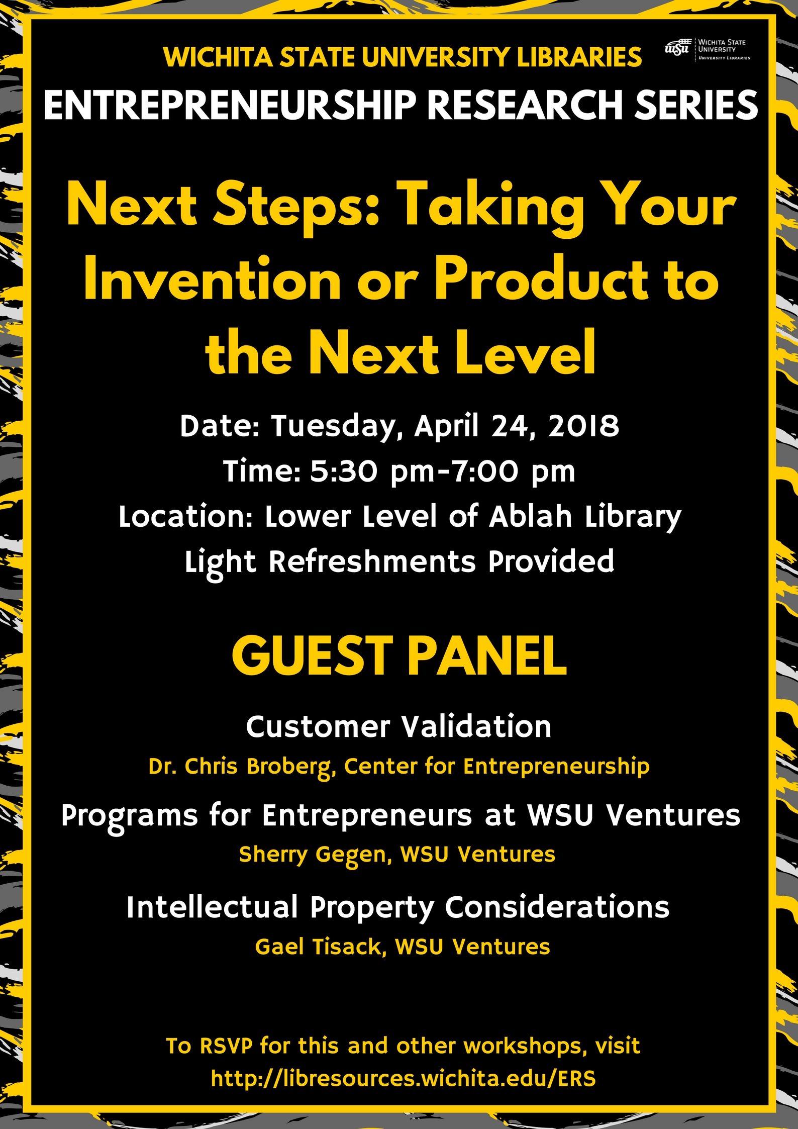 WSU Ventures Guest Panel: Next Steps: Taking Your Invention or Product to the Next Level