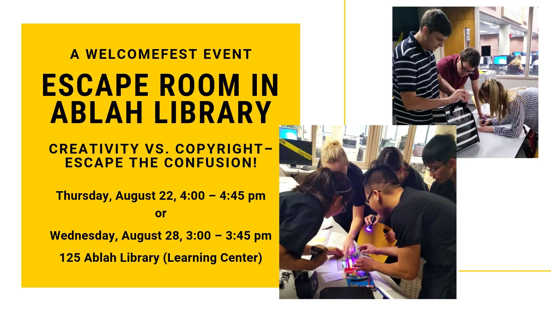 Escape Room in Ablah Library