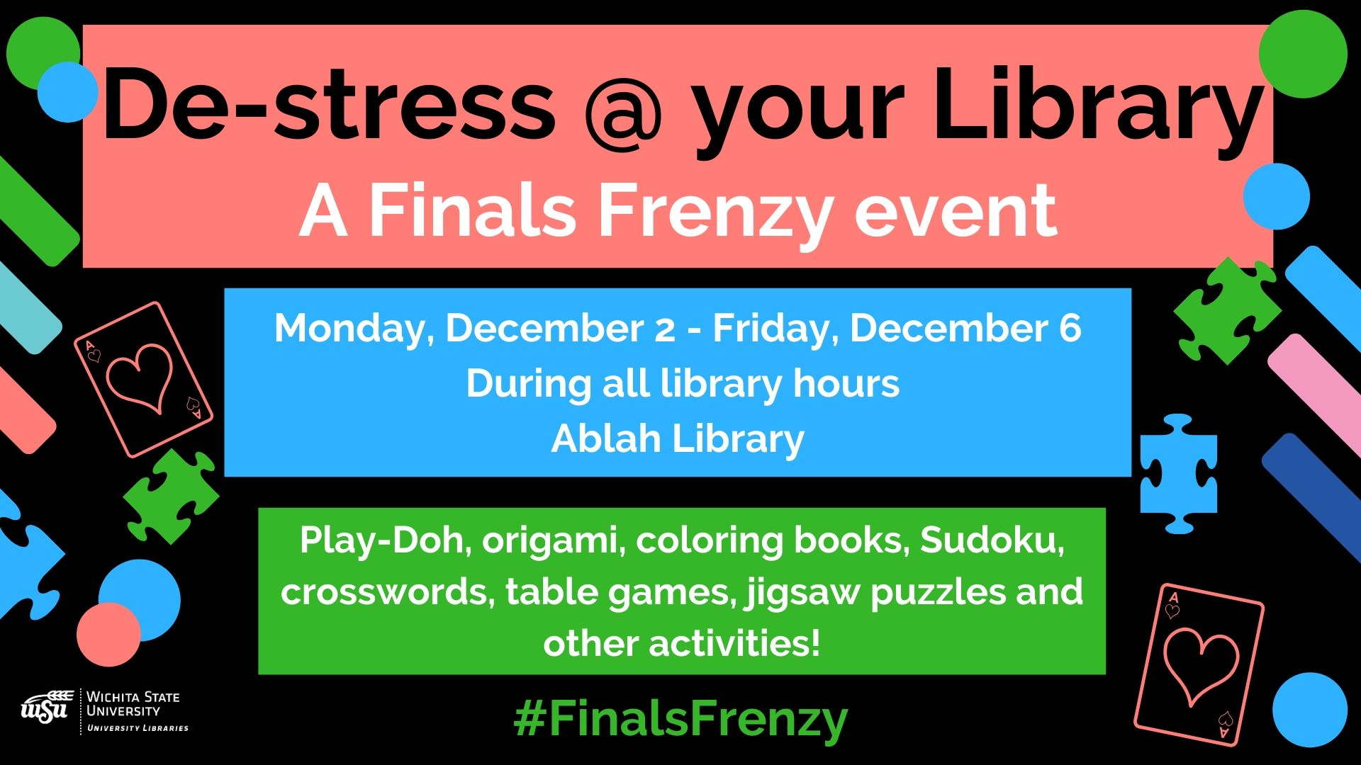 De-stress @ Your Library