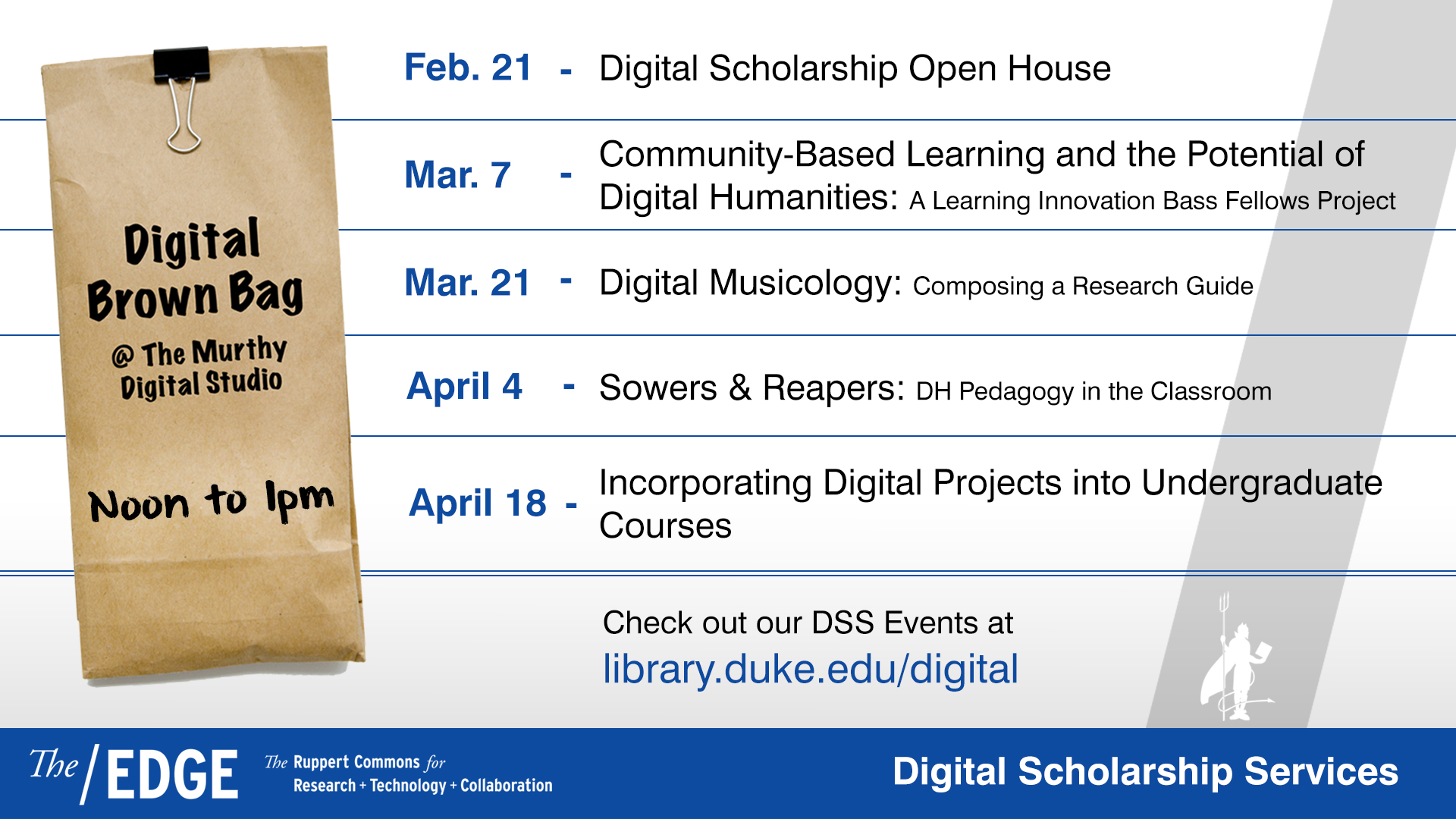 Digital Brown Bag: Community-Based Learning and the Potential of Digital Humanities: A Learning Innovation Bass Fellows Project
