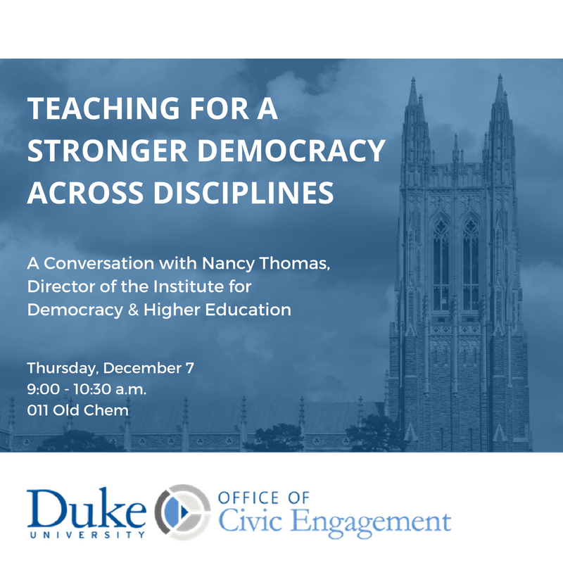 Teaching for a Stronger Democracy Across Disciplines