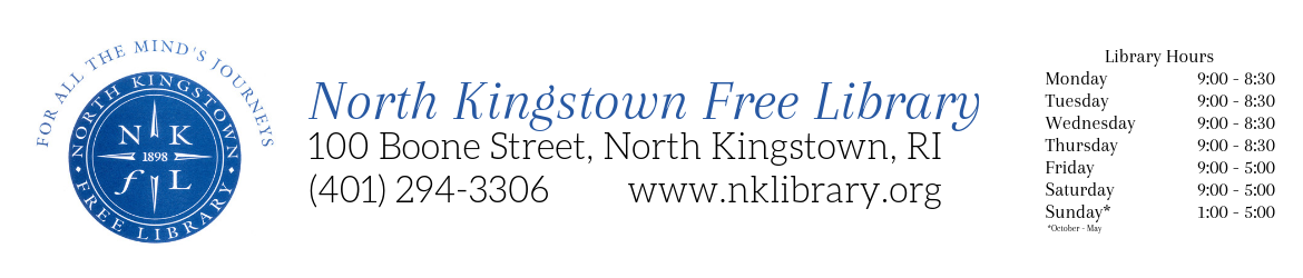 North Kingstown Free Library LibCal
